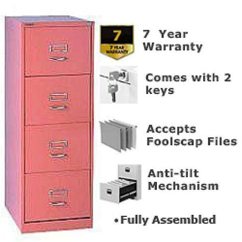 GLO by Bisley BS4C Filing Cabinet 4 Drawer H1321mm Pink