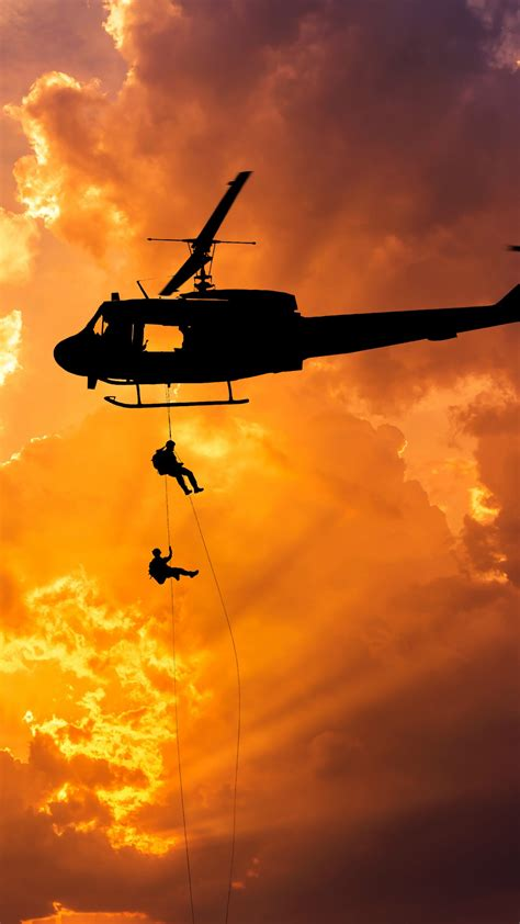wallpaper army rappelling helicopter silhouette