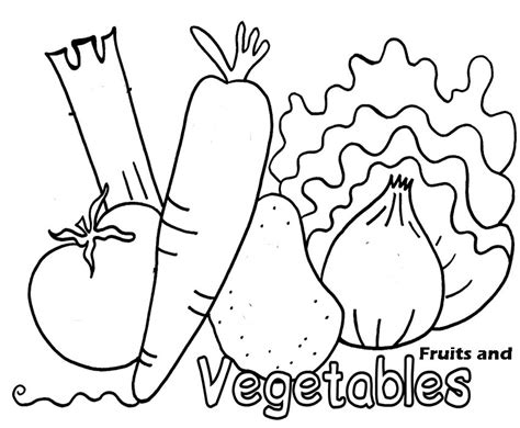 coloring pages  fresh fruit  vegetables