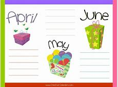 Free Birthday Calendar Charts Templates – 2018 Calendar
