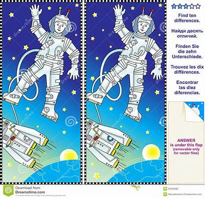 Differences Puzzle Visual Between Puzzles Space Finden