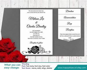 diy printable pocket wedding invitation template set With diy wedding invitations on microsoft word