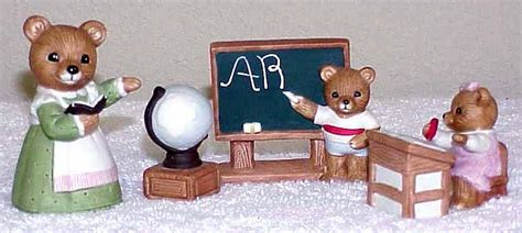 Home Interior 1409 : Home Interiors 5pc Homco Bears #1409 Teacher/classroom