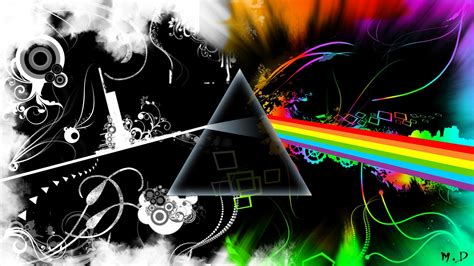 Abstract Music Pink Floyd Multicolor Rock Music The Dark