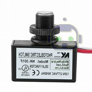 Photoelectric Photocell Dusk To Dawn Button Flush Mount