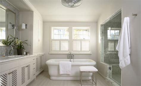 Light Gray Bathroom Cabinets-transitional-bathroom