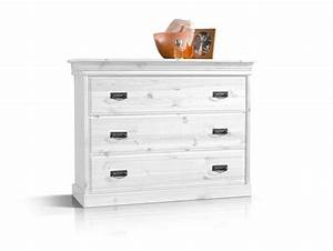 RICHARD II Kommode Sideboard Kiefer Massiv Kiefer Weiss