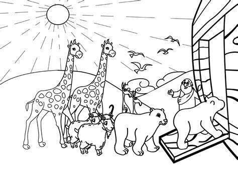 noah ark coloring pages bible printables 6904758 pictures to pin on - Noahs Ark Coloring Pages Print