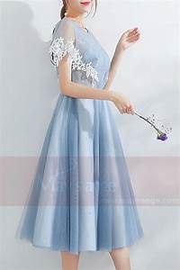 Robe Boheme Courte : robe de cocktail boh me courte bleu c878 ref c878 robe ~ Melissatoandfro.com Idées de Décoration