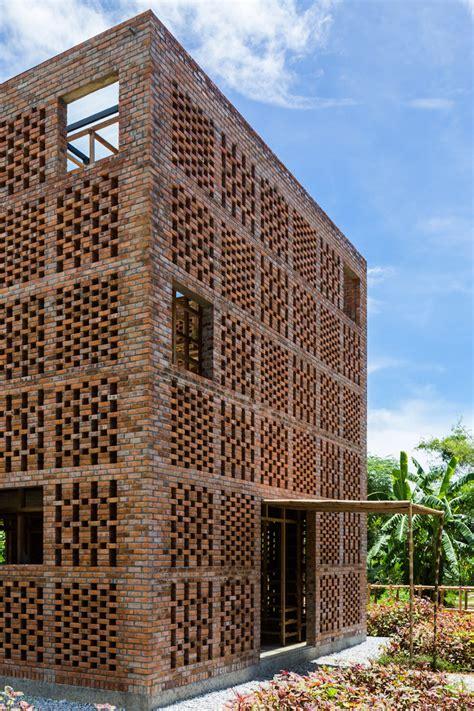 Tropical Space's Perforated Brick 'terra Cotta Studio