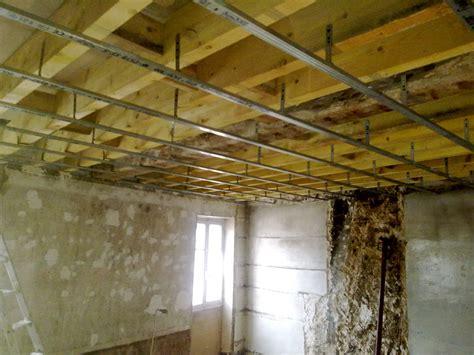 faux plafond chambre 12 1 pose du plafond ch2 le de e f