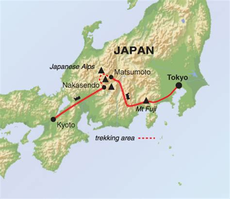 Rhythm And Alps Travel Map Directions And Location Walking Mt Fuji And The Japanese Alps