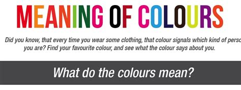 Meaning Of Colours And What It Says About Your Personality