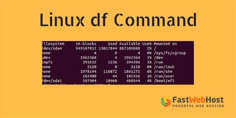 df commands  check space  linux  ubuntu