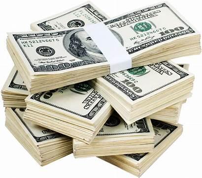 Money Dollar Dollars Bill Clipart Pile Transparent