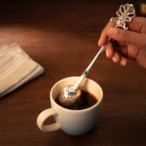 buy silver brass tea infuser  ellementry