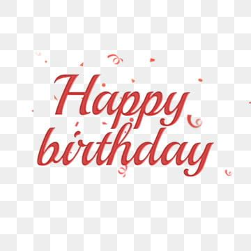 happy birthday font design png images vector  psd