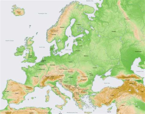 maps map of europe mountain ranges