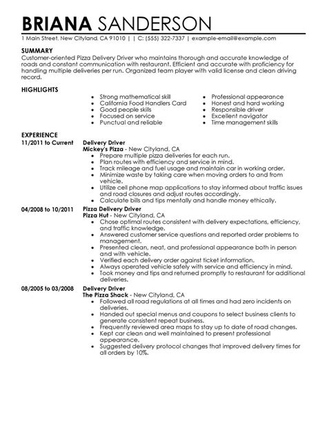 12 amazing transportation resume exles livecareer