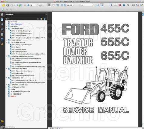 Ford 555c Fuel Filter Part by Ford 455c 555c 655c Tractor Repair Shop Service Manual Tlb