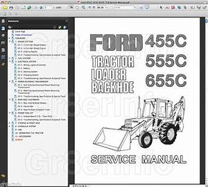 Ford 455c 555c 655c Tractor Repair Shop Service Manual Tlb