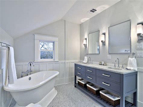 Gray Bathroom Contemporary Benjamin Moore Whythe Blue Ideas