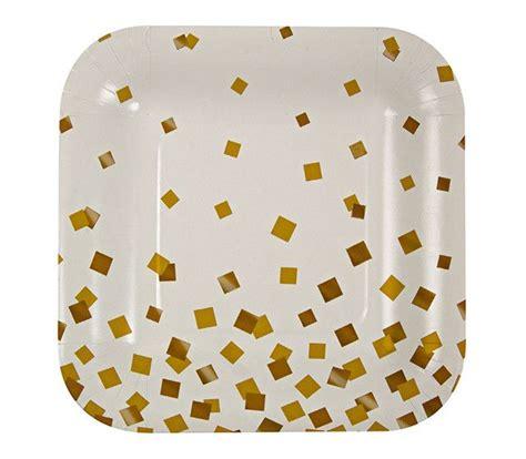 gold confetti paper plates square plates square plate set plates