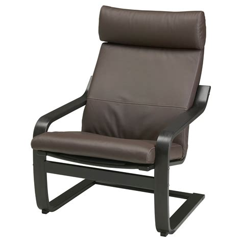 po 196 ng armchair black brown glose brown ikea