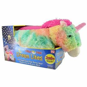 Jumbo Dream Lites Rainbow Unicorn Pillow Pet