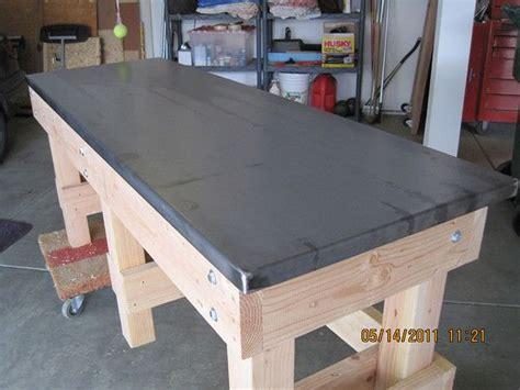 workbench steel top question  garage journal board