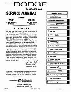 1964 Dodge Dart Shop Manual   Repair Book