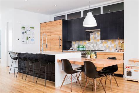 credence cuisine carreau ciment maison contemporaine à la décoration brute