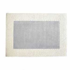 Teppich Blau Weiß : teppich blau wei moulure 140x200 maisons du monde ~ Whattoseeinmadrid.com Haus und Dekorationen