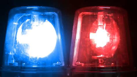 emergency blue lights dolly blue emergency vehicle lighting stock footage
