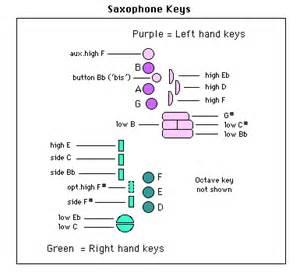 Alto Saxophone Key Diagram