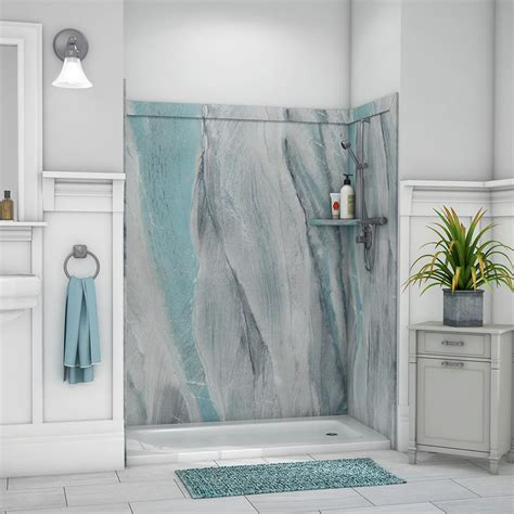 shower surrounds flexstone royale 36 in x 60 in x 80 in 11 easy up