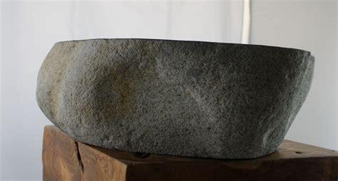 waschbecken naturstein stein kiesel aufsatzwaschbecken