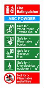 Fire Equipment safety signs | abc powder fire extinguisher ...