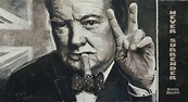 Winston Churchill -SOLD- portrait painting by artist Peter ...