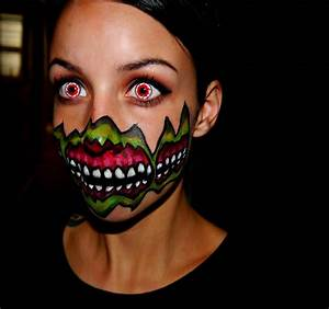 Halloween 2014 Series: Demon Mouth Face Painting - YouTube