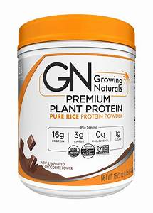 Rice Protein Powder Chocolate Power 1lb Canister  U2013 Growing Naturals Store