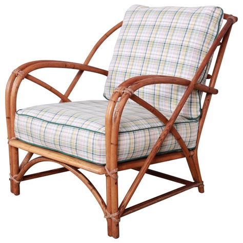 Vintage mid century modern bamboo rattan accent chair from the 1980s. Heywood Wakefield Hollywood Regency Mid-Century Modern ...