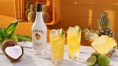 Malibu is a coconut flavored liqueur, made with caribbean rum, and possessing an alcohol content by volume of 21.0 % (42 proof). Drinks & Cocktails With Malibu Rum | Absolut Drinks