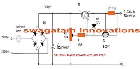 Transformer Safe Vdc Variable Supply Electrical