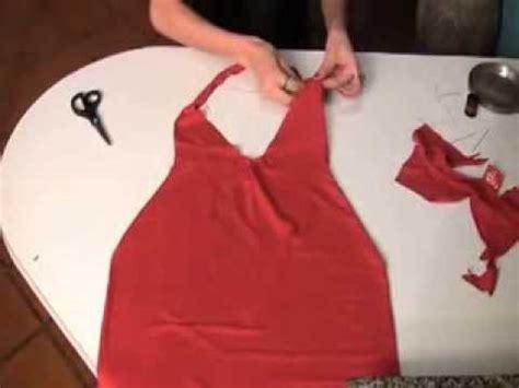 ein kleid aus einem  shirt