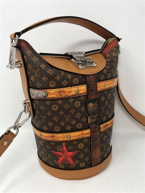 louis vuitton  duffle time trunk handbag  stdibs