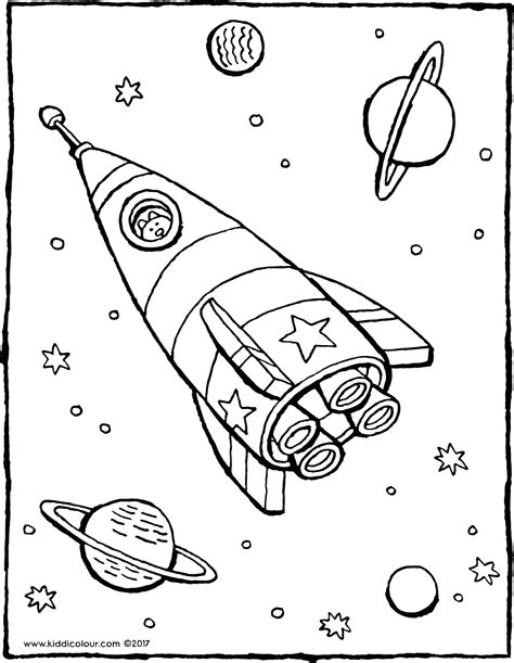 Kleurplaat Raket by Kleurplaten Raketten