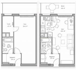 ordinaire amenagement chambre 12m2 9 plan de studio With plan amenagement chambre 12m2