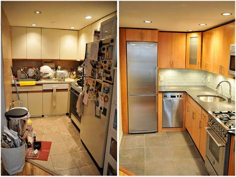 small kitchen makeovers before and after before after small kitchen remodels modern kitchens 9342