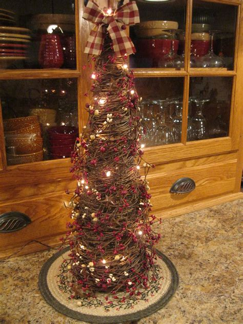primitive twig christmas tree   home pinterest